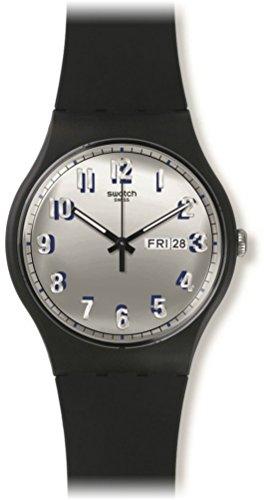 スウォッチ 腕時計 メンズ SUOB718 Swatch SUOB718 Secret Service Silver Day Date Black Silicone Unisex Watch NEWスウォッチ 腕時計 メンズ SUOB718