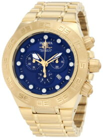 インヴィクタ インビクタ サブアクア 腕時計 メンズ 1941 Invicta Men's 1941 Subaqua Sport Chronograph Blue Dial 18k Gold Ion-Plated Stainless Steel Watchインヴィクタ インビクタ サブアクア 腕時計 メンズ 1941