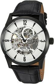 腕時計 インヴィクタ インビクタ メンズ 22639 【送料無料】Invicta Men's Objet d'Art Stainless Steel Automatic-self-Wind Watch with Leather-Calfskin Strap, Black, 23 (Model: 22639)腕時計 インヴィクタ インビクタ メンズ 22639