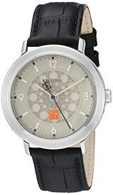 ブローバ 腕時計 メンズ 96A164 Bulova Men's Quartz Stainless Steel and Leather Dress Watch, Color:Black (Model: 96A164)ブローバ 腕時計 メンズ 96A164