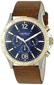 ブローバ 腕時計 メンズ 45A135 Caravelle New York Men's Quartz Stainless Steel and Brown Leather Dress Watch (Model: 45A135)ブローバ 腕時計 メンズ 45A135