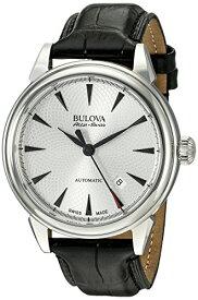 ブローバ 腕時計 メンズ 63B173 Bulova Men's 'Gemini' Swiss Automatic Stainless Steel and Black Leather Casual Watch (Model: 63B173)ブローバ 腕時計 メンズ 63B173