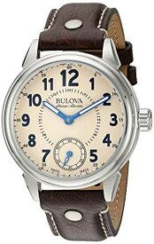 ブローバ 腕時計 メンズ 63A121 Bulova Men's 'Gemini' Mechanical Hand Wind Stainless Steel and Brown Leather Casual Watch (Model: 63A121)ブローバ 腕時計 メンズ 63A121