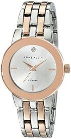 腕時計 アンクライン レディース AK/1931SVRT 【送料無料】Anne Klein Women's AK/1931SVRT Diamond-Accented Dial Silver-Tone and Rose Gold-Tone Bracelet Watch腕時計 アンクライン レディース AK/1931SVRT