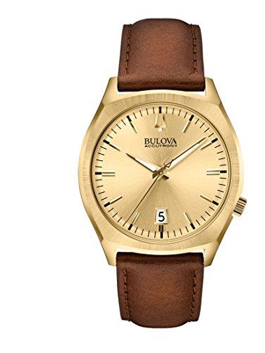 ブローバ 腕時計 メンズ 97B132 Bulova 97B132 Men's Accutron II Analog Display Quartz Watch, Brown Leather Band, 41mm Caseブローバ 腕時計 メンズ 97B132