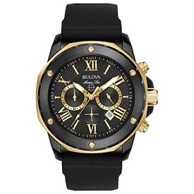 腕時計 ブローバ メンズ 98B278 【送料無料】Bulova Men's Stainless Steel Analog-Quartz Watch with Silicone Strap, Black, 24 (Model: 98B278)腕時計 ブローバ メンズ 98B278
