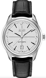 ブローバ 腕時計 メンズ 63B176 Bulova Men's 'Murren' Mechanical Hand Wind Stainless Steel and Black Leather Automatic Watch (Model: 63B176)ブローバ 腕時計 メンズ 63B176