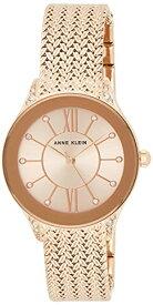 アンクライン 腕時計 レディース AK/2208RGRG 【送料無料】Anne Klein Women's AK/2208RGRG Swarovski Crystal Accented Rose Gold-Tone Mesh Bracelet Watchアンクライン 腕時計 レディース AK/2208RGRG