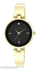 アンクライン 腕時計 レディース AK/1724BKGB 【送料無料】Anne Klein Women's Black Dial Gold-Tone Bracelet Quartz Watch AK/1724BKGBアンクライン 腕時計 レディース AK/1724BKGB