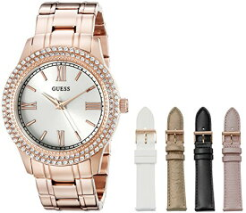 ゲス GUESS 腕時計 レディース U0713L3 GUESS Women's U0713L3 Luxurious Rose Gold-Tone Watch Set with Metal Bracelet and 4 Interchangeable Straps Inside a Bonus Jewelry Boxゲス GUESS 腕時計 レディース U0713L3