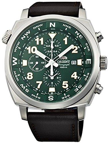 オリエント 腕時計 メンズ FTT17004F ORIENT Sporty Quartz Chronograph 100M Pilot Watch Green TT17004Fオリエント 腕時計 メンズ FTT17004F
