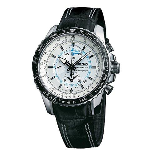 セイコー 腕時計 メンズ SNAF01P1 Seiko Sportura White Dial Black Leather Mens Watch SNAF01セイコー 腕時計 メンズ SNAF01P1