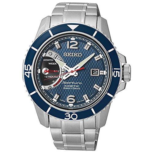 セイコー 腕時計 メンズ SRG017 Seiko Sportura Kinetic Direct Drive Stainless Steel Men's watch #SRG017セイコー 腕時計 メンズ SRG017