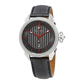 腕時計 ルシアンピカール メンズ LP-40053-01-RDA 【送料無料】Lucien Piccard Men's LP-40053-01-RDA Trevi Stainless Steel Watch with Black Leather Band腕時計 ルシアンピカール メンズ LP-40053-01-RDA