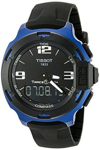 ティソ 腕時計 メンズ T0814209705700 Tissot Men's T0814209705700 T-Race Touch Black and Blue Analog-Digital Watchティソ 腕時計 メンズ T0814209705700