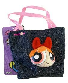 パワーパフガールズ ぬいぐるみ ドール 人形 カートゥーンネットワーク Cartoon Network Powerpuff Girls Denim Novelty Bag Handbag Purse - Pink Blossomパワーパフガールズ ぬいぐるみ ドール 人形 カートゥーンネットワーク