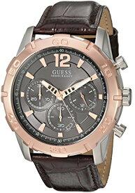 ゲス GUESS 腕時計 メンズ U0864G1 GUESS Men's U0864G1 Sporty Stainless Steel Multi-Function Watch with Chronograph Dial and Genuine Leather Strap Buckleゲス GUESS 腕時計 メンズ U0864G1