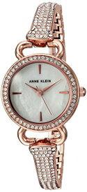 アンクライン 腕時計 レディース AK/2816MPRG 【送料無料】Anne Klein Women's AK/2816MPRG Swarovski Crystal Accented Rose Gold-Tone Bangle Watchアンクライン 腕時計 レディース AK/2816MPRG