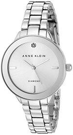 アンクライン 腕時計 レディース AK/2305SVSV 【送料無料】Anne Klein Women's AK/2305SVSV Diamond-Accented Dial Silver-Tone Bracelet Watchアンクライン 腕時計 レディース AK/2305SVSV