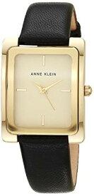 アンクライン 腕時計 レディース AK/2706CHBK 【送料無料】Anne Klein Women's AK/2706CHBK Gold-Tone and Black Leather Strap Watchアンクライン 腕時計 レディース AK/2706CHBK
