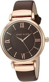 腕時計 アンクライン レディース AK/2666RGBN 【送料無料】Anne Klein Women's AK/2666RGBN Swarovski Crystal Accented Rose Gold-Tone and Brown Leather Strap Watch腕時計 アンクライン レディース AK/2666RGBN