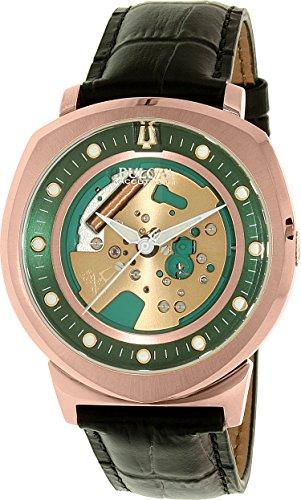 ブローバ 腕時計 メンズ 97A122 Bulova Men's Accutron II Black Leather Strap Watchブローバ 腕時計 メンズ 97A122
