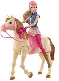 バービーが馬に飛び乗る!バービーサドルンライドホース 乗馬 バービー人形 プレゼントに最適 CLD93