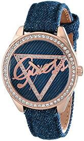 ゲス GUESS 腕時計 レディース U0456L6 GUESS Women's U0456L6 Iconic Blue Logo Watch with Blue Denim Leather Strap & Rose Gold-Tone Caseゲス GUESS 腕時計 レディース U0456L6