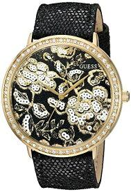 ゲス GUESS 腕時計 レディース U0820L1 GUESS Women's U0820L1 Trendy Gold-Tone Watch with Gold Dial , Crystal-Accented Bezel and Genuine Leather Strap Buckleゲス GUESS 腕時計 レディース U0820L1