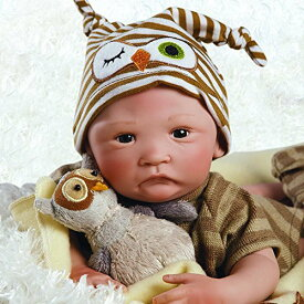 パラダイスギャラリーズ 赤ちゃん リアル 本物そっくり おままごと 21072200 【送料無料】Paradise Galleries Hoot! Hoot! Baby Doll That Looks Like a Real Baby, 16 inch Vinyl, Preパラダイスギャラリーズ 赤ちゃん リアル 本物そっくり おままごと 21072200