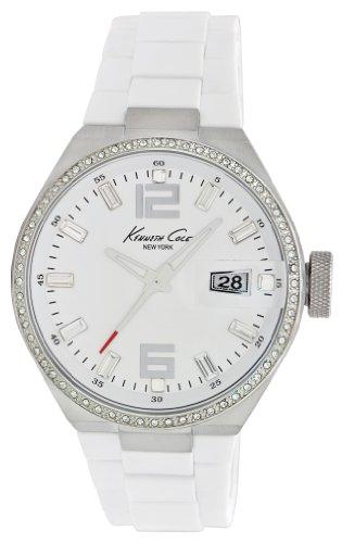 ケネスコール・ニューヨーク Kenneth Cole New York 腕時計 メンズ KC4811 Kenneth Cole New York Men's KC4811 Classic White Dial & Silicone Link Bracelet Watchケネスコール・ニューヨーク Kenneth Cole New York 腕時計 メンズ KC4811