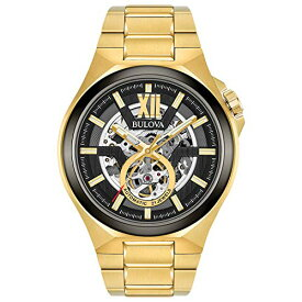 ブローバ 腕時計 メンズ 98A178 Bulova Men's Automatic-self-Wind Watch with Stainless-Steel Strap, Gold, 27 (Model: 98A178)ブローバ 腕時計 メンズ 98A178