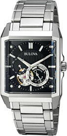 ブローバ 腕時計 メンズ 96A194 Bulova Men's Automatic-self-Wind Watch with Stainless-Steel Strap, Silver, 24 (Model: 96A194)ブローバ 腕時計 メンズ 96A194