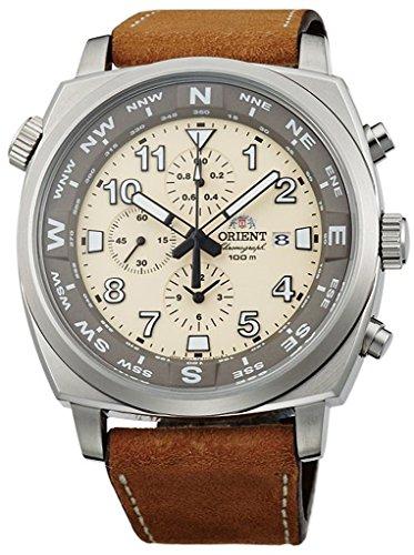 オリエント 腕時計 メンズ FTT17005Y ORIENT Sporty Quartz Chronograph 100M Pilot Watch Classic Beige TT17005Yオリエント 腕時計 メンズ FTT17005Y