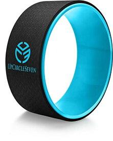 ヨガウィール フィットネス UpCircleSeven Yoga Wheel - Strongest & Most Comfortable Dharma Yoga Prop Wheel, Perfect Platform for Stretching and Improving Backbends, 12 x 5 Inch Basic (Blue)ヨガウィール フィットネス