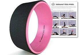 ヨガウィール フィットネス SukhaMat Yoga Wheel - New! Pro Series - Dharma Yoga Prop Wheel, Back Stretcher, with Printed Guide & Online Video, 12.5 x 5 Inch Basic (Pink/Black)ヨガウィール フィットネス