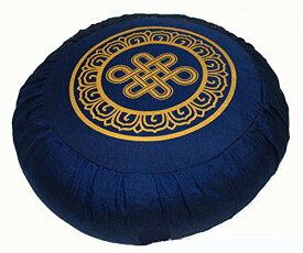 ヨガ フィットネス 【送料無料】Boon Decor Meditation Cushion Zafu Lotus Enlightenment and Other Sacred Symbols (Eternal Knot Blue)ヨガ フィットネス