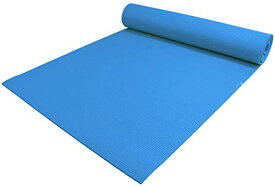 "ヨガマット フィットネス 【送料無料】YogaAccessories 1/4"" Thick High-Density Deluxe Non-Slip Exercise Pilates & Yoga Mat, Sky Blueヨガマット フィットネス"