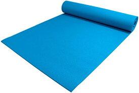 """ヨガマット フィットネス 【送料無料】YogaAccessories 1/4"""" Thick High-Density Deluxe Non-Slip Exercise Pilates & Yoga Mat, Scuba Blueヨガマット フィットネス"""