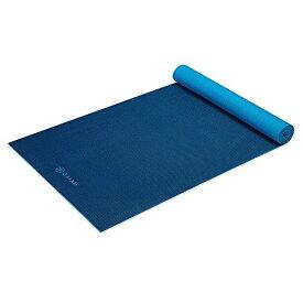 ヨガマット フィットネス 05-61698 【送料無料】Gaiam Premium Reversible Two-Color Yoga Mat, Non Slip Exercise & Fitness Mat for All Types of Yoga, Pilates & Floor Exercises, Navy/Blue, 5mmヨガマット フィットネス 05-61698