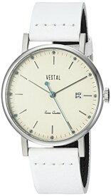 腕時計 ベスタル ヴェスタル メンズ SP36L04 【送料無料】Vestal Sophisticate 36 Stainless Steel Swiss-Quartz Watch with Leather Calfskin Strap, White, 18 (Model: SP36L04)腕時計 ベスタル ヴェスタル メンズ SP36L04