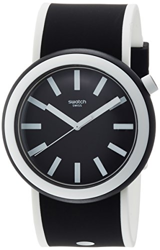 スウォッチ 腕時計 メンズ PNB100 Swatch New POP Poplooking Black Dial Silicone Strap Unisex Watch PNB100スウォッチ 腕時計 メンズ PNB100