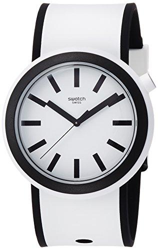 スウォッチ 腕時計 メンズ PNW100 Swatch New POP Popmoving White Dial Silicone Strap Unisex Watch PNW100スウォッチ 腕時計 メンズ PNW100