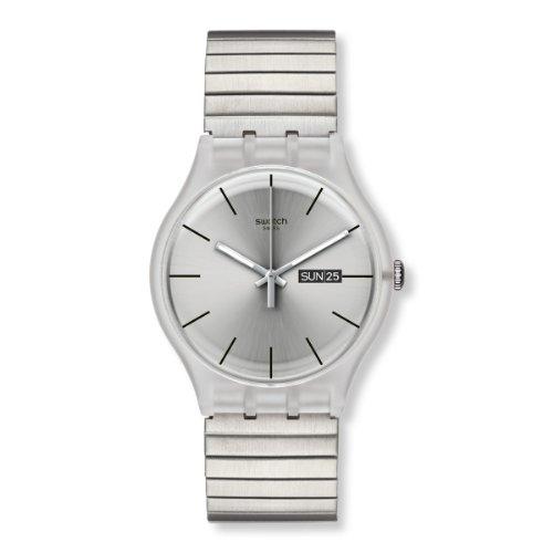 スウォッチ 腕時計 メンズ Resolution Large Swatch Originals Resolution Silver Dial Stainless Steel Unisex Watch SUOK700Aスウォッチ 腕時計 メンズ Resolution Large