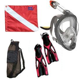 シュノーケリング マリンスポーツ 夏のアクティビティ特集 Mares Head Sea Vu Dry Snorkeling Set With Full Face Snorkel Mask SIZE S/M Anti-fog - Sopras Sub PINK Fins size XS-M - 4/8 - Free Legal Divinシュノーケリング マリンスポーツ 夏のアクティビティ特集