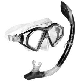 シュノーケリング マリンスポーツ 240090 【送料無料】U.S. Divers Admiral 2 Lx/Island Dry Adult Silicone Mask Combo (Black)シュノーケリング マリンスポーツ 240090