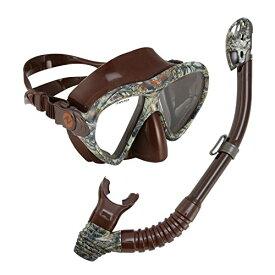 シュノーケリング マリンスポーツ 261213 U.S. Divers Adult Magellan Purge LX Mask/Tucson LX Snorkel, Camo Brownシュノーケリング マリンスポーツ 261213