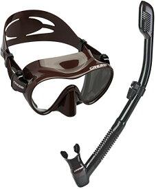シュノーケリング マリンスポーツ CRS-FMSS-BRO-PP 【送料無料】Cressi Scuba Diving Snorkeling Freediving Mask Snorkel Set, Brown Camoシュノーケリング マリンスポーツ CRS-FMSS-BRO-PP