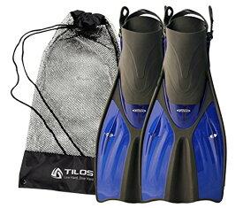 シュノーケリング マリンスポーツ 【送料無料】Tilos Getaway Snorkeling Fins Open Heel Fins (Blue, S/M (4.5-8.5))シュノーケリング マリンスポーツ