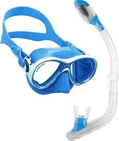 シュノーケリング マリンスポーツ DM1000078 【送料無料】Cressi Marea Jr (Colorama edition) & Mini Dry, blueシュノーケリング マリンスポーツ DM1000078
